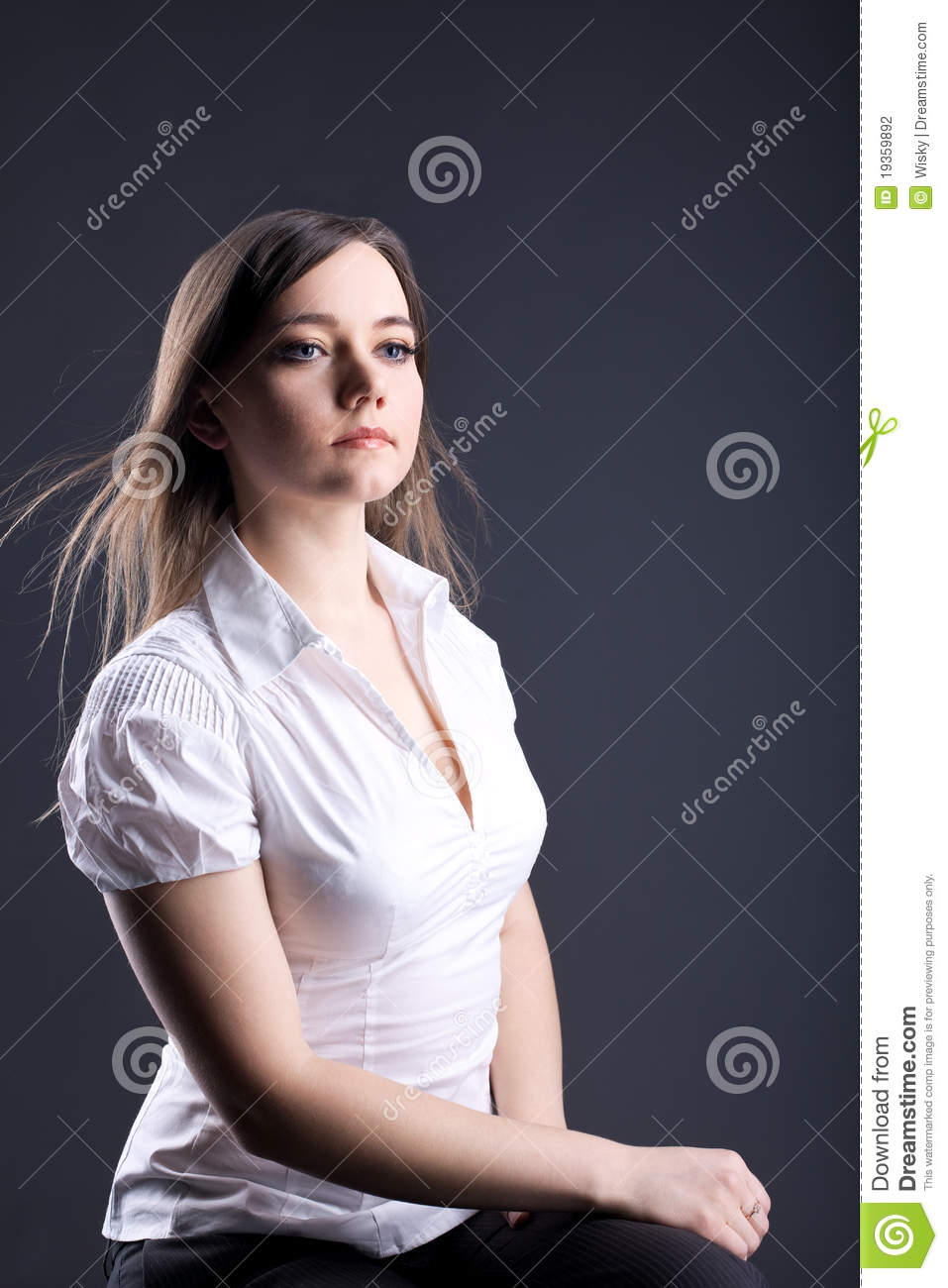 Young Proud Woman Serious Business Portrait Stock Photo Image Of