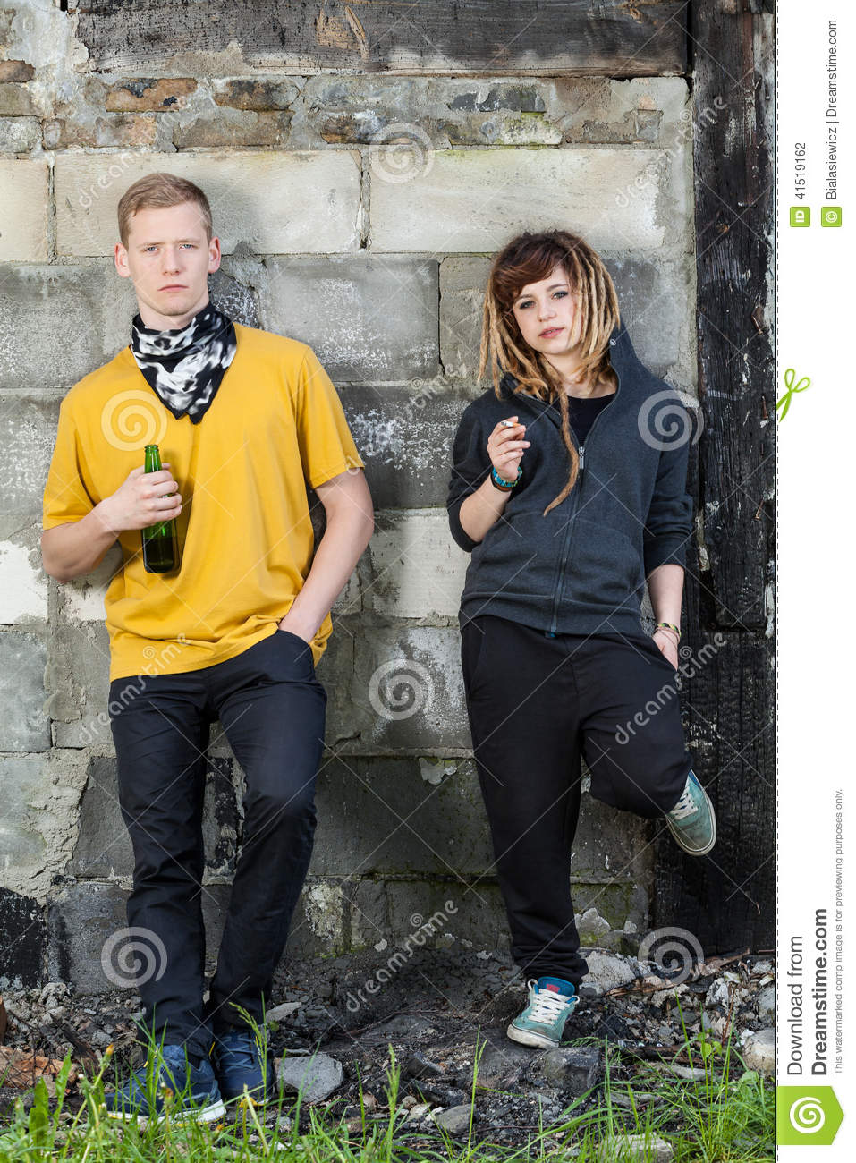 Young Pupils Drinking Beer Stock Photo - Image: 41519162