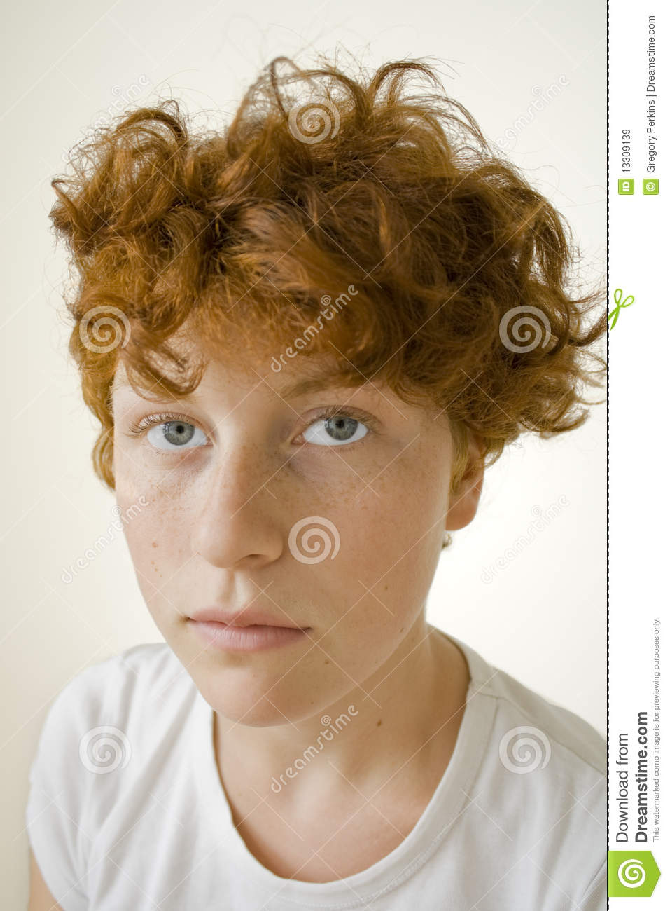Red head teen facial prom