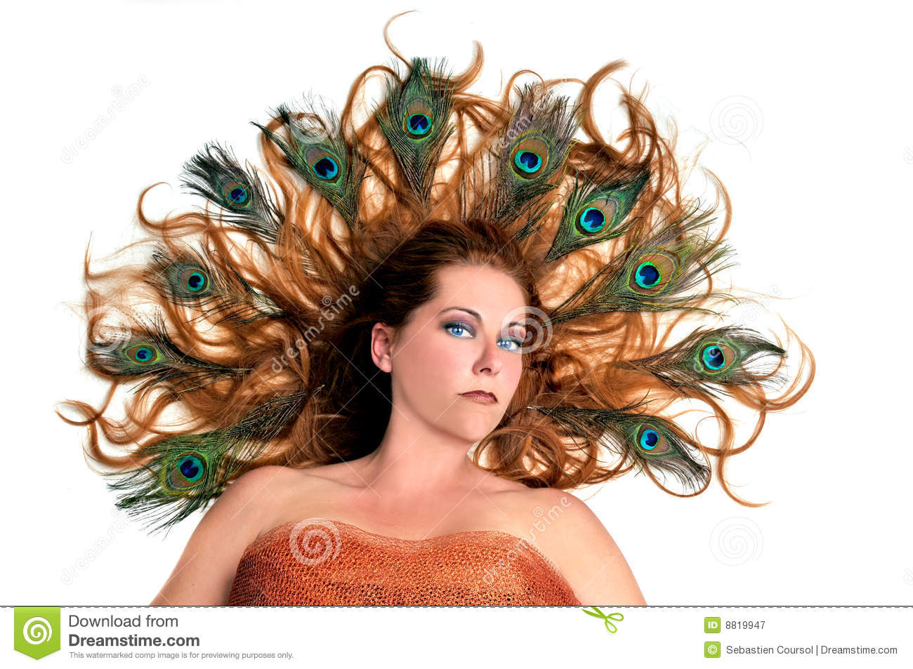Young Redhead Woman With Fancy Hairstyle Stock Image Image Of Hair