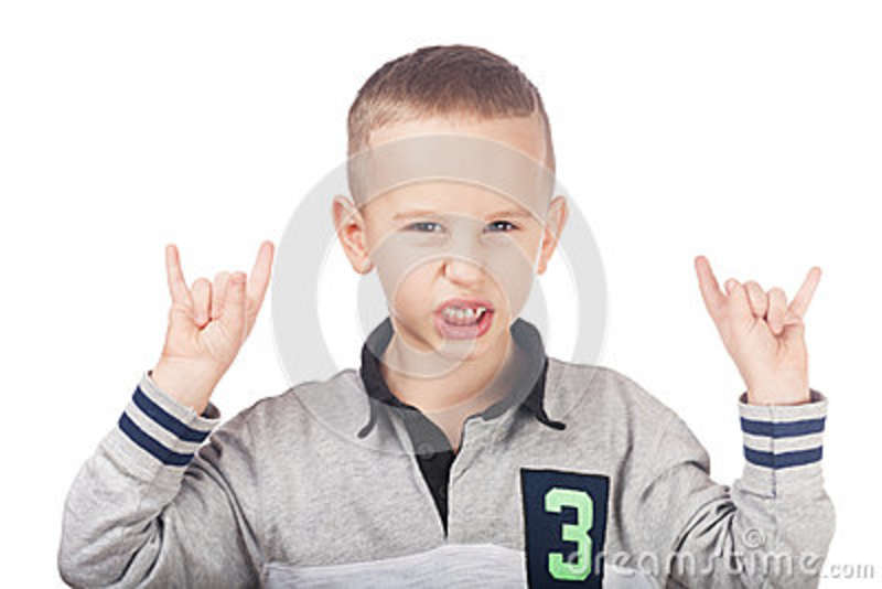 Download Young rocking guy stock photo. Image of human, little - 82709804