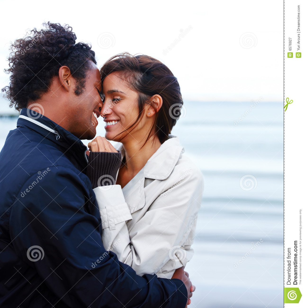 Young Romantic Couple Hugging Each Other Stock Image