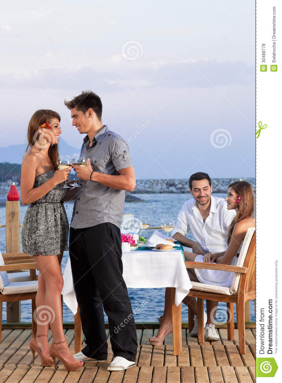 Young Romantic Couple Stock Photo Image Of Champagne