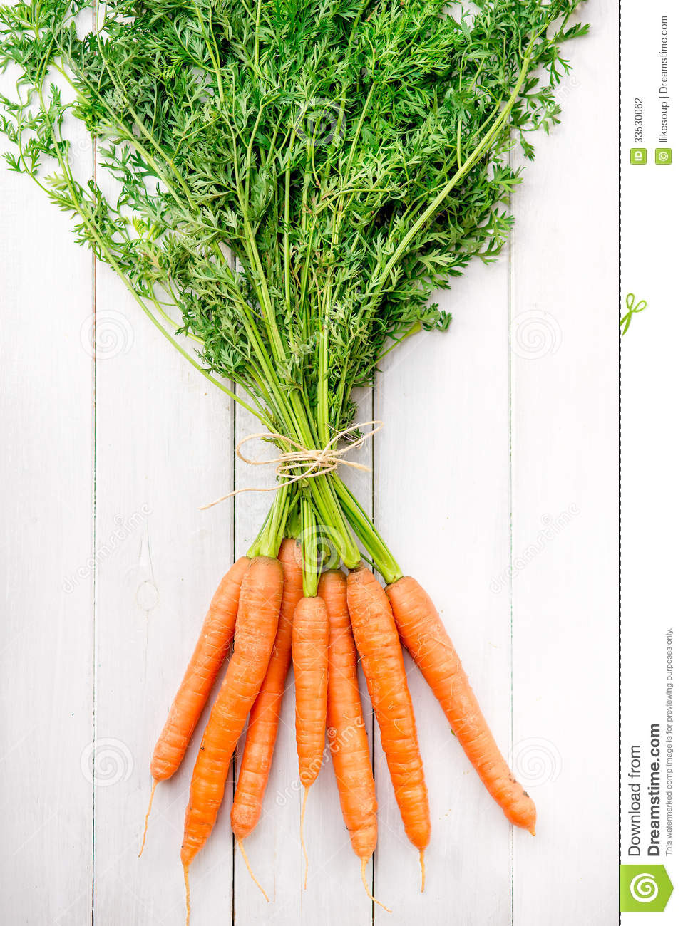 Young Rustic Carrots On White Boards Stock Photography