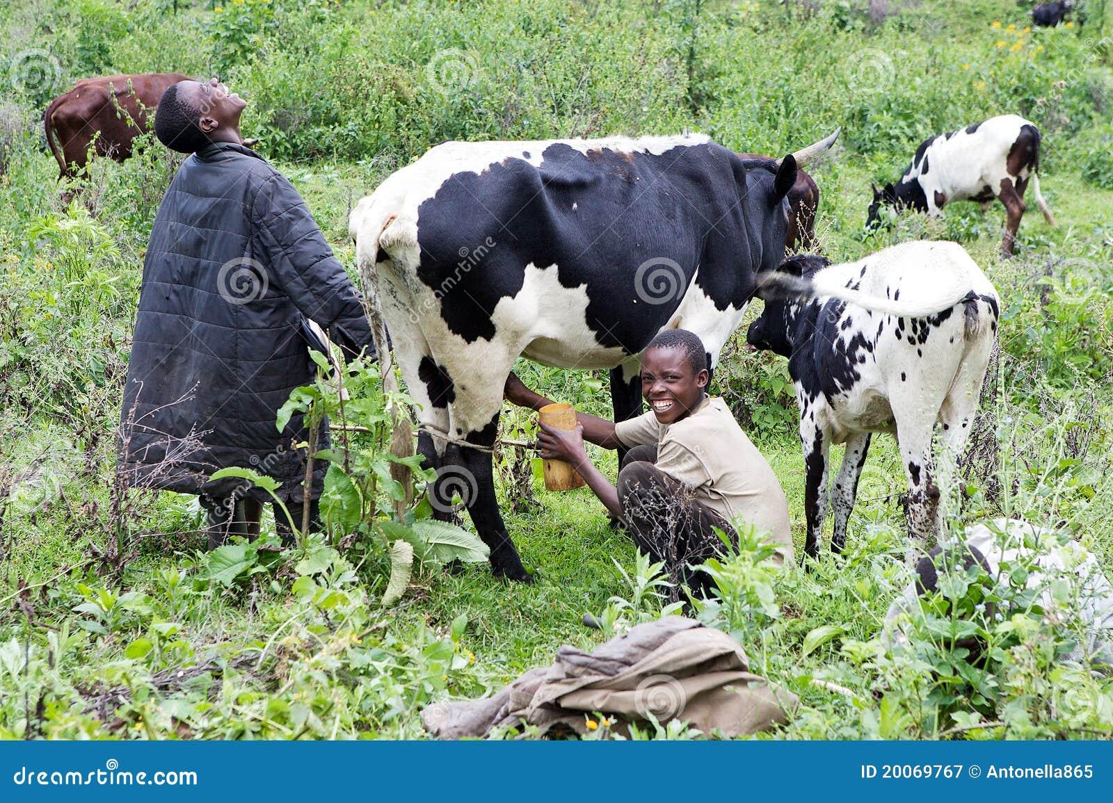 Young rwandan farmers