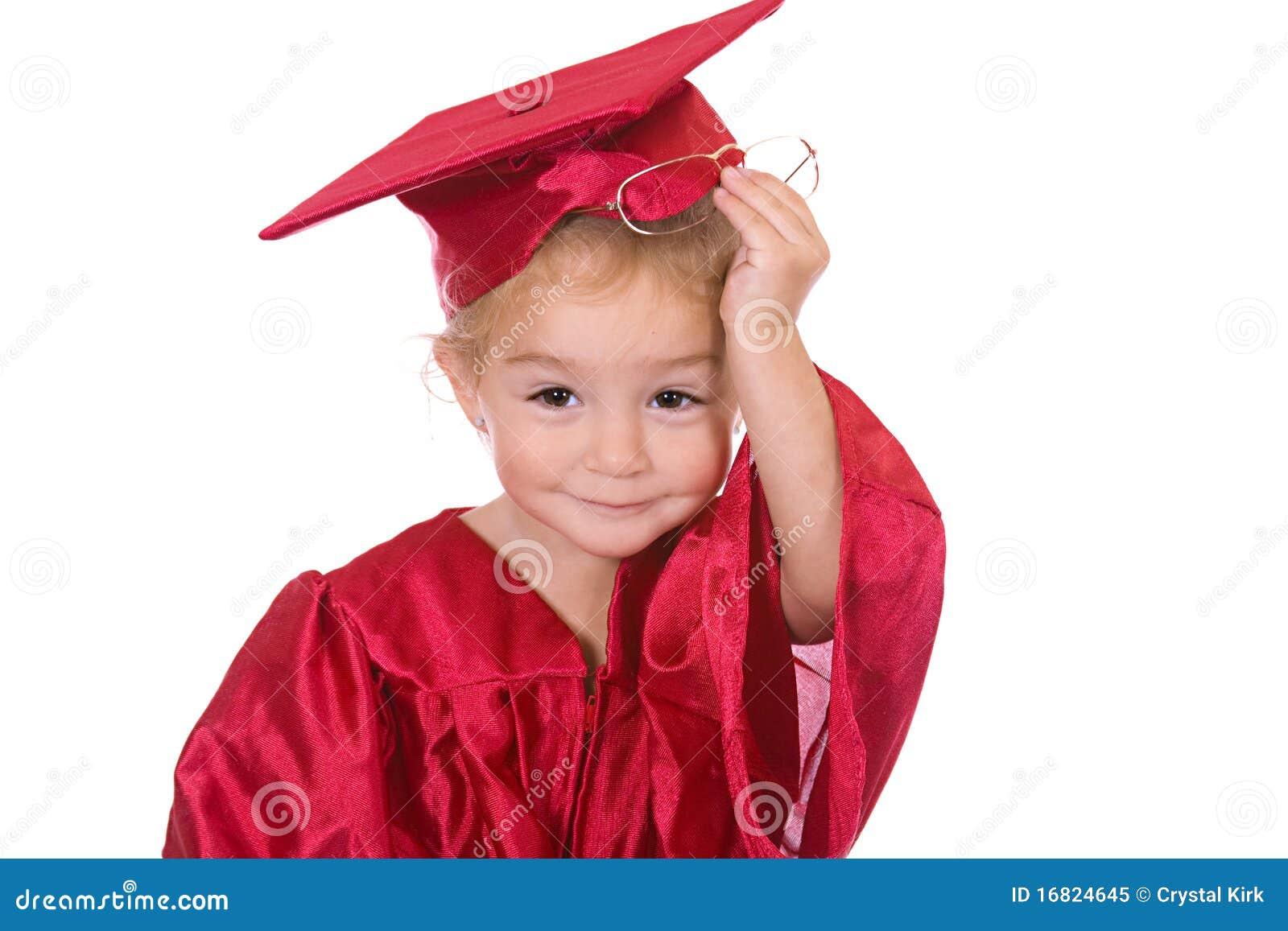 Young scholar stock image. Image of smart, gown, preschool - 16824645