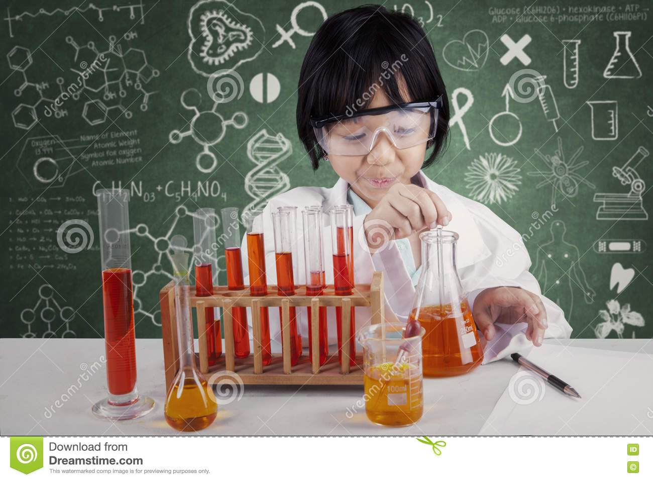 young asian scientist working on research in laboratory