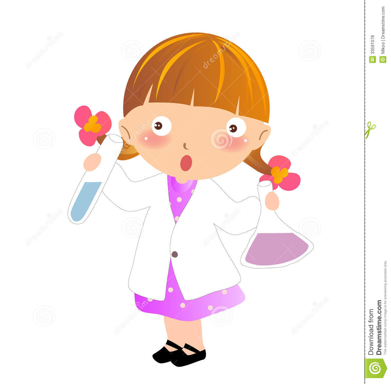 A young scientist stock illustration. Image of girl, art ...