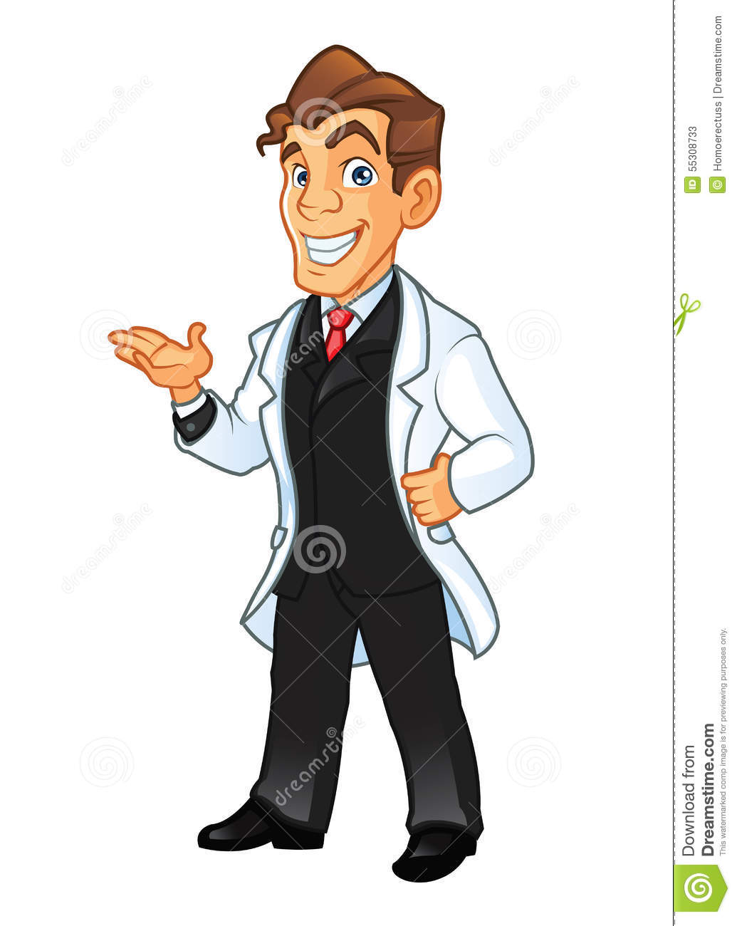 Young Scientist Stock Illustration - Image: 55308733