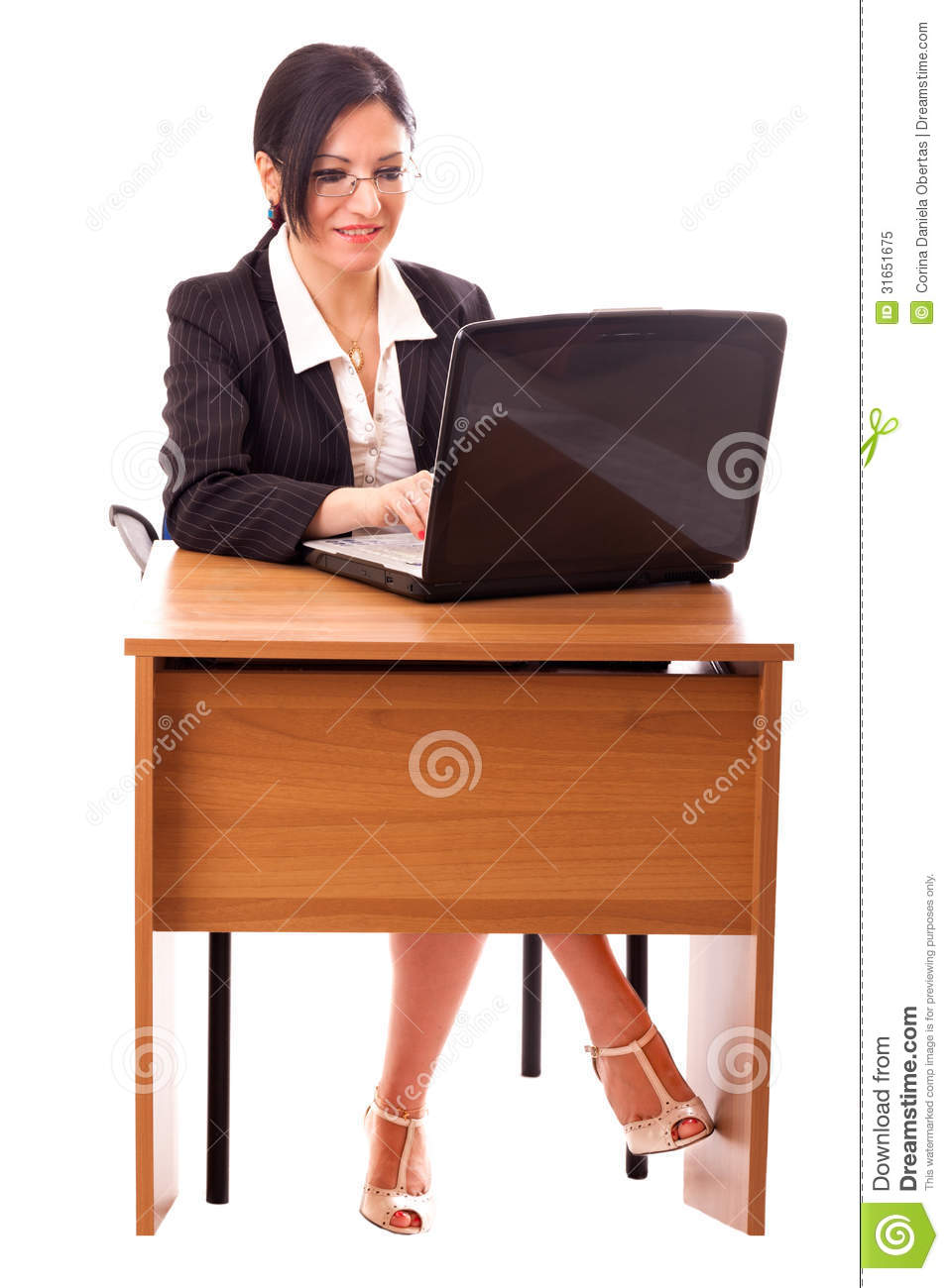 Young Secretary At Her Desk Stock Image Image 31651675