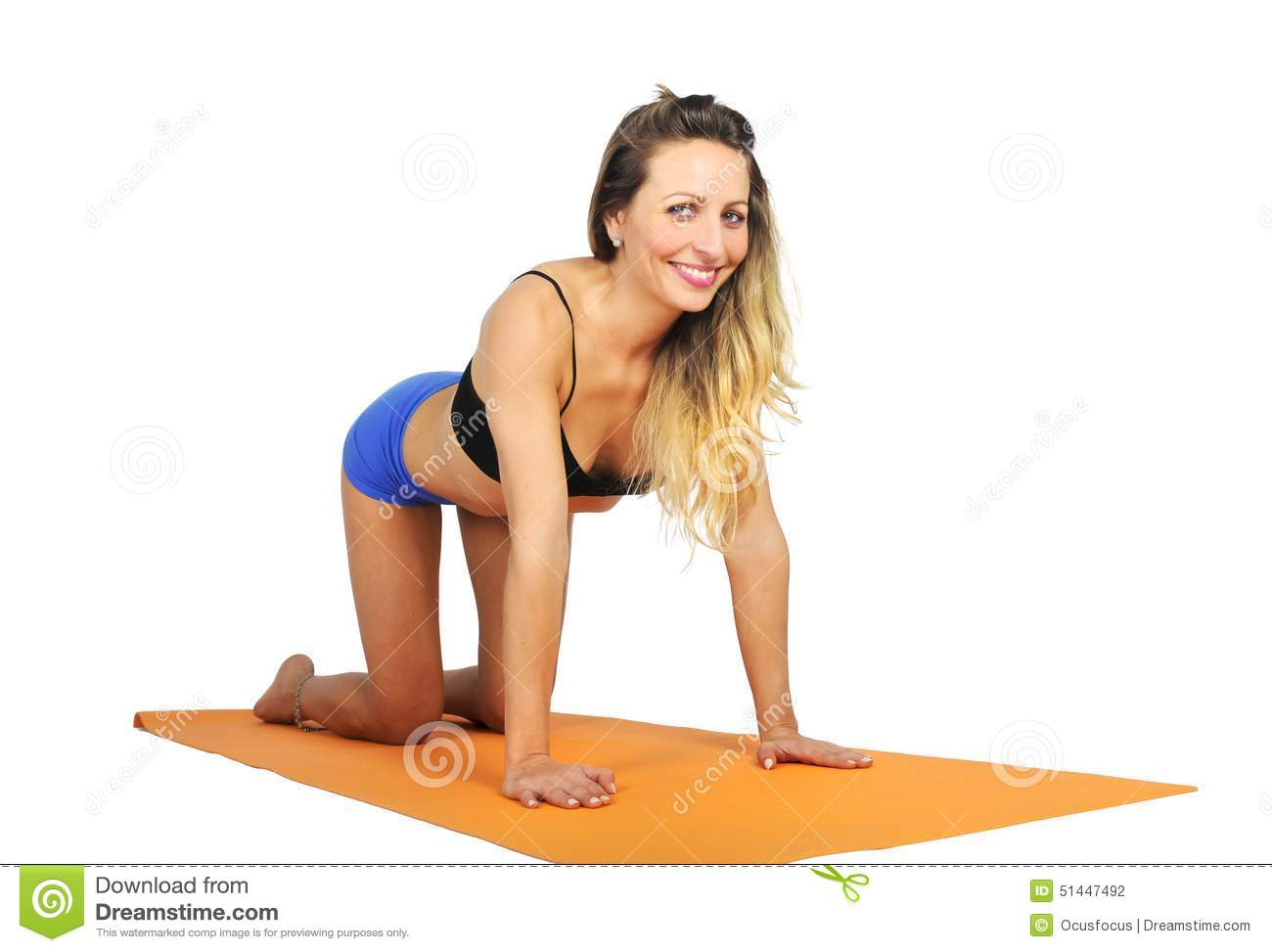 Slim Sexy Woman Doing Stretching Exercise Royalty Free