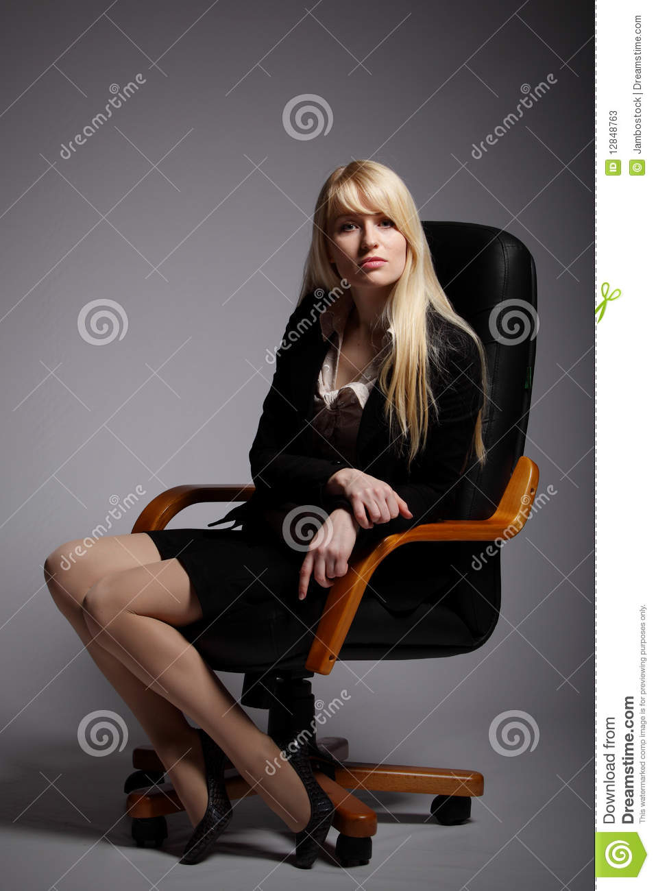 The Young Sexy Business Woman Stock Photos Image 12848763