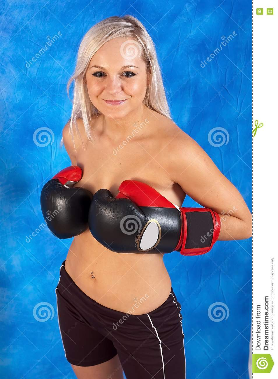 young sexy girls in boxing gloves stock photos   image 15275943