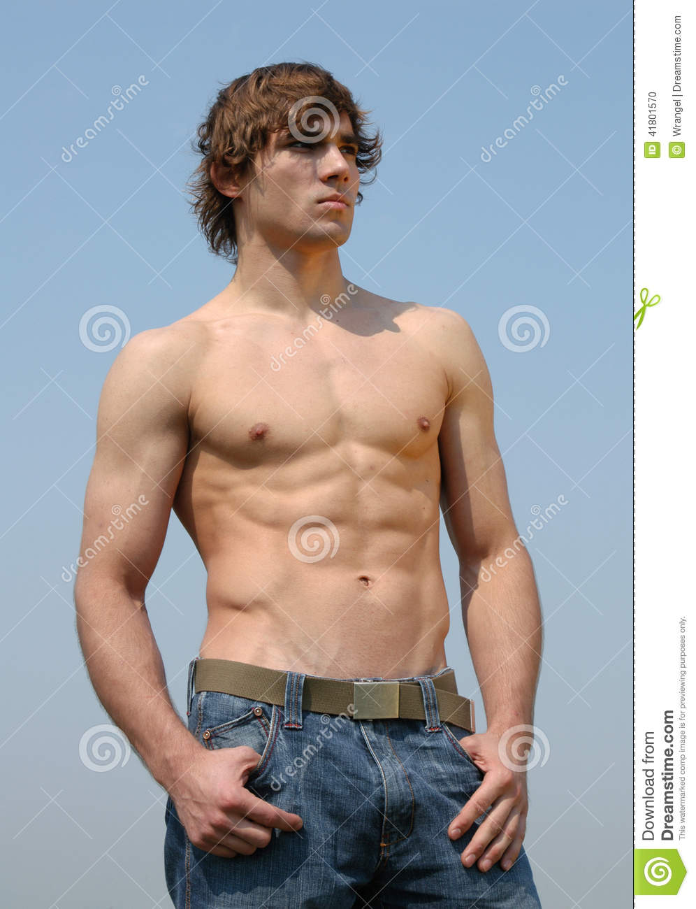 Young sexy man