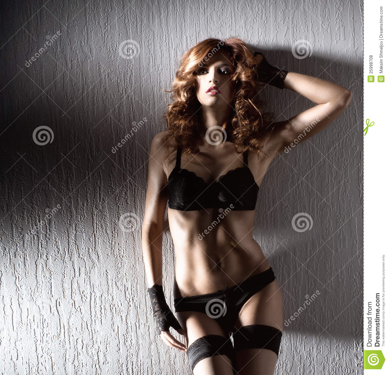 From redhead woman posing young