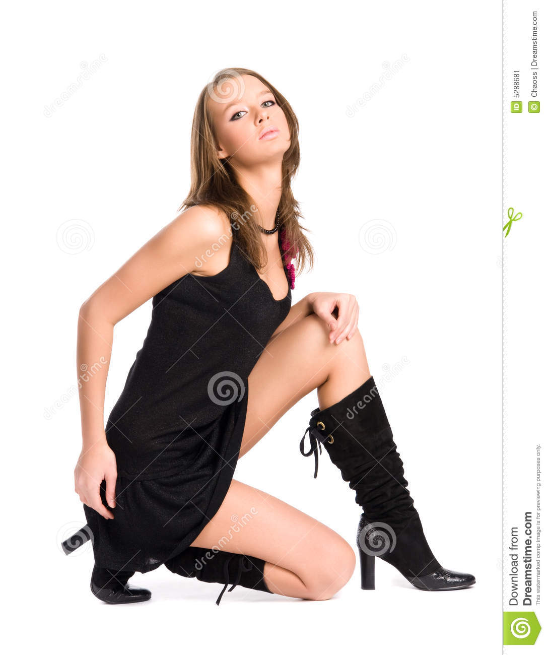 Young Siting Woman Stock Image Image Of Legs Beauty