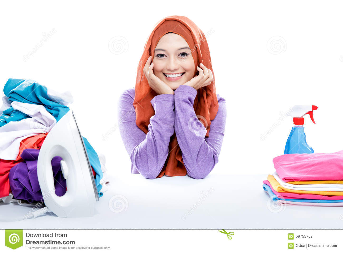 Phrase Bravo, Amateur housewife doing laundry consider
