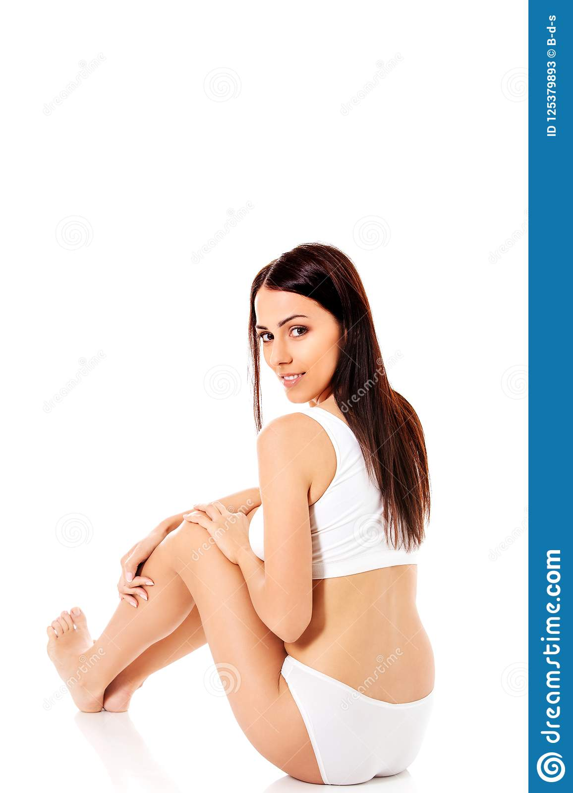 0ca26f9dd7fd Young, sporty, fit and beautiful girl in sporty underwear, isolated on white  background. More similar stock images