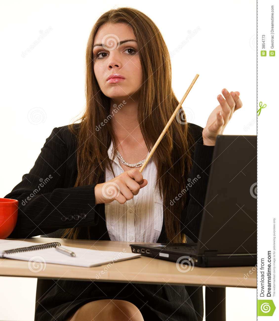 Young Stern Teacher Stock Image Image Of Business