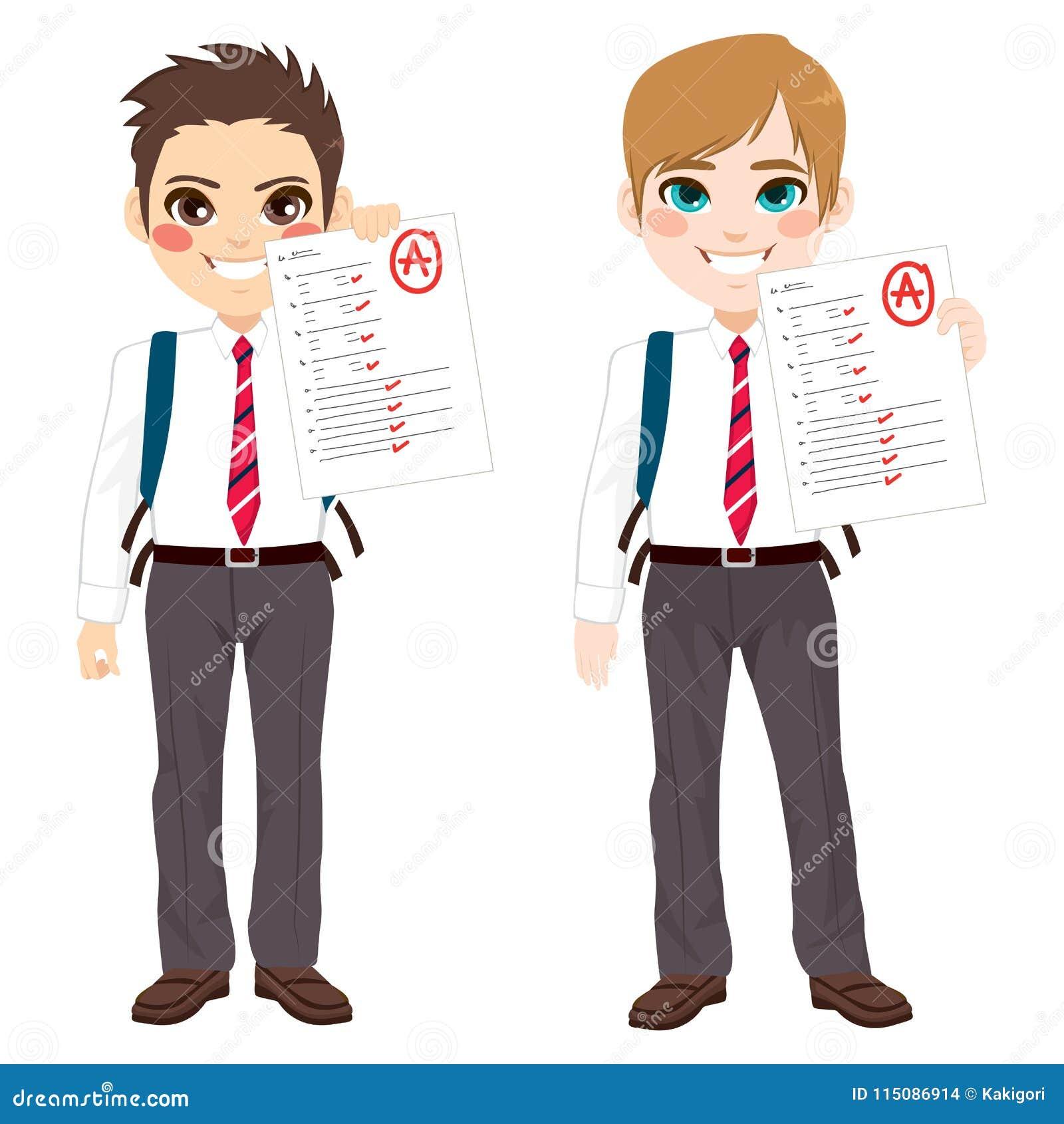 Boy Grades Tests