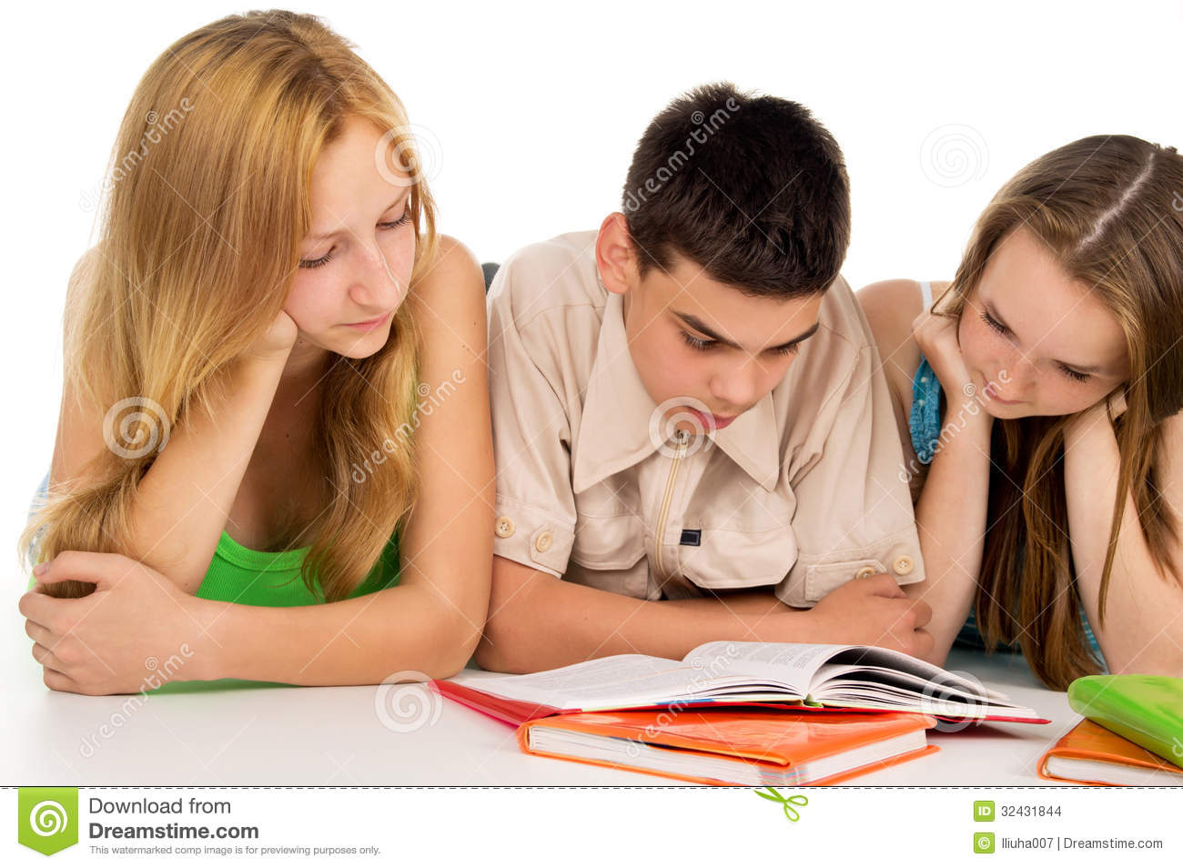 Young Students Reading Books Stock Images - Image: 32431844