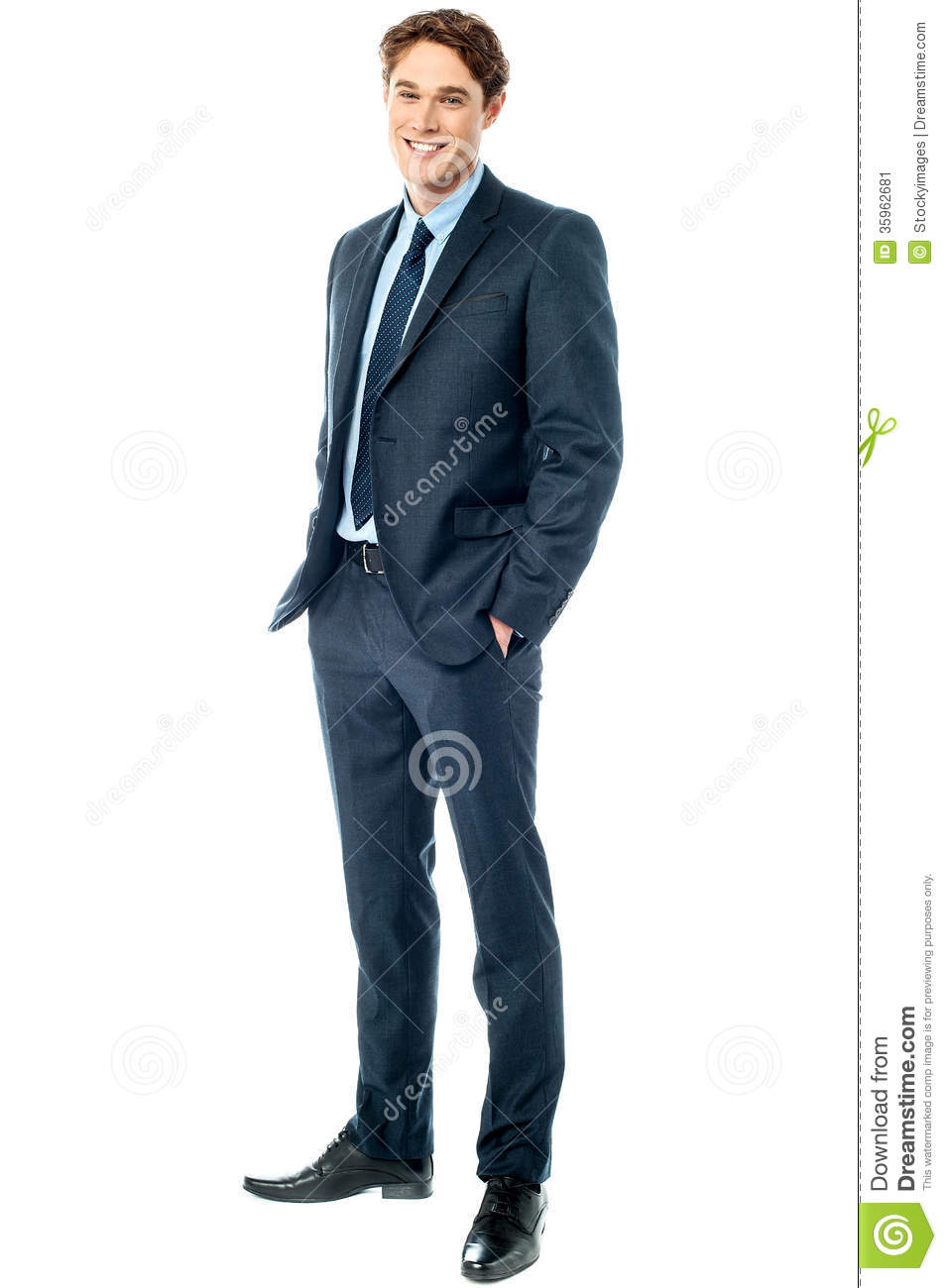 young stylish smiling corporate guy stock image