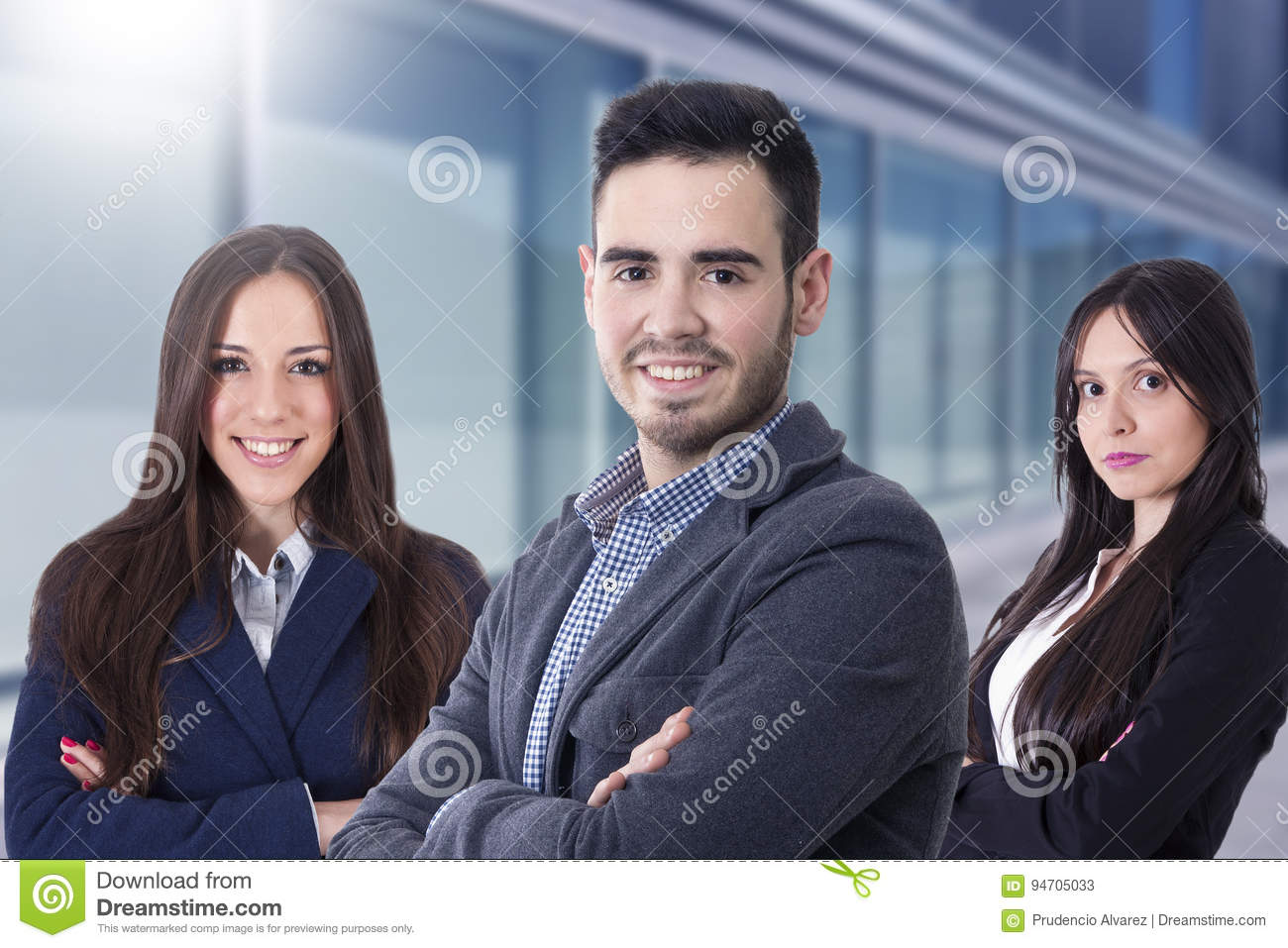 Young team of business executives