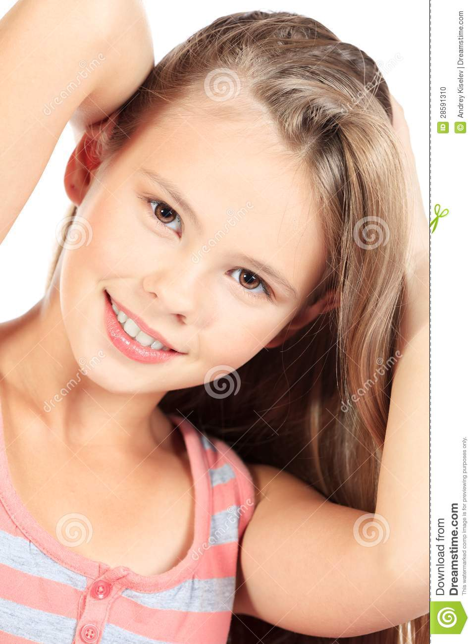 Young Teen Stock Photo. Image Of Happiness, Hair, Look