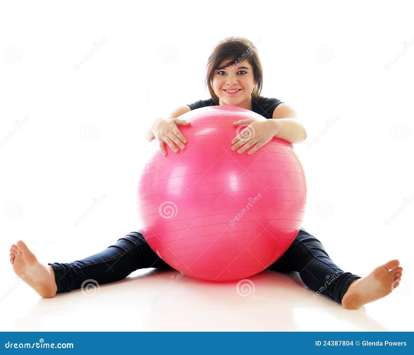 Words... super, teen on yoga ball excellent idea