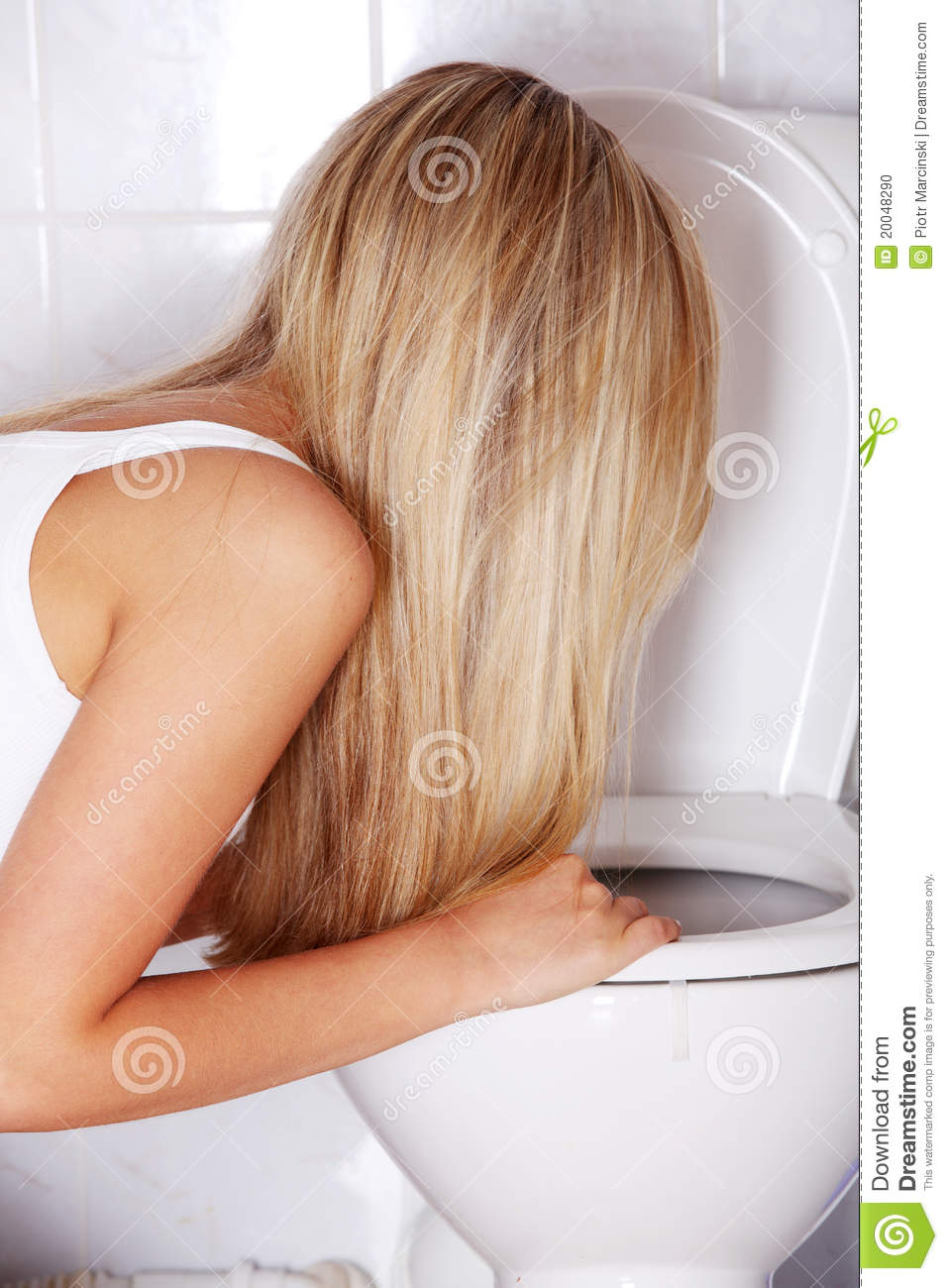 Young Teen Woman Vomiting Stock Photo Image 20048290