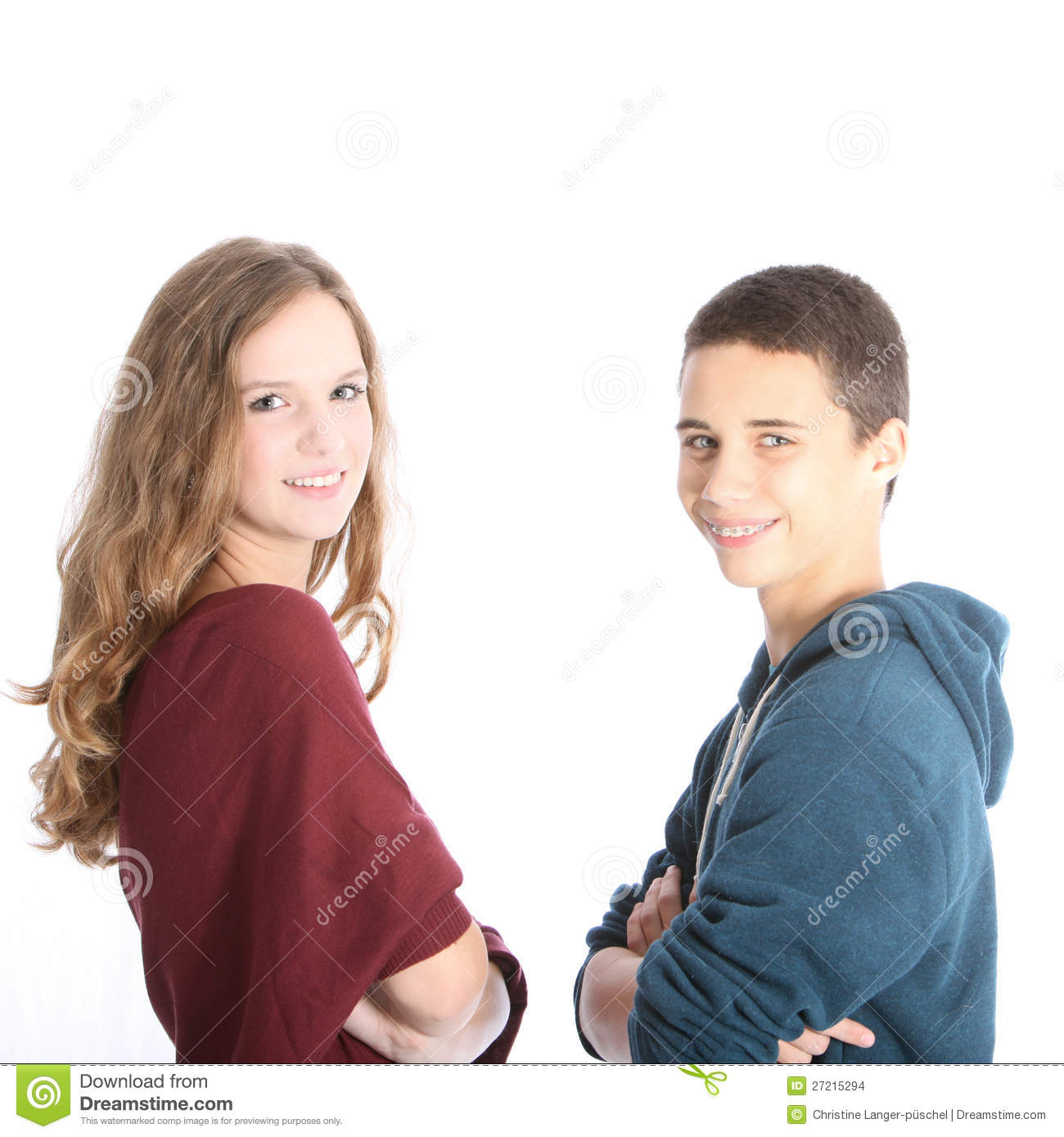 Young Teenage Brother And Sister Stock Images - Image