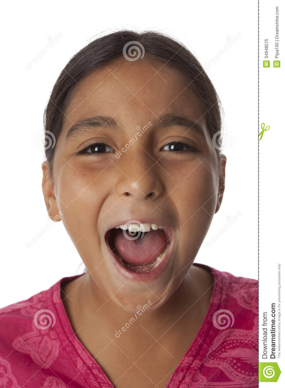 Young Teenage Girl Screaming Loud Stock Image - Image Of -9174