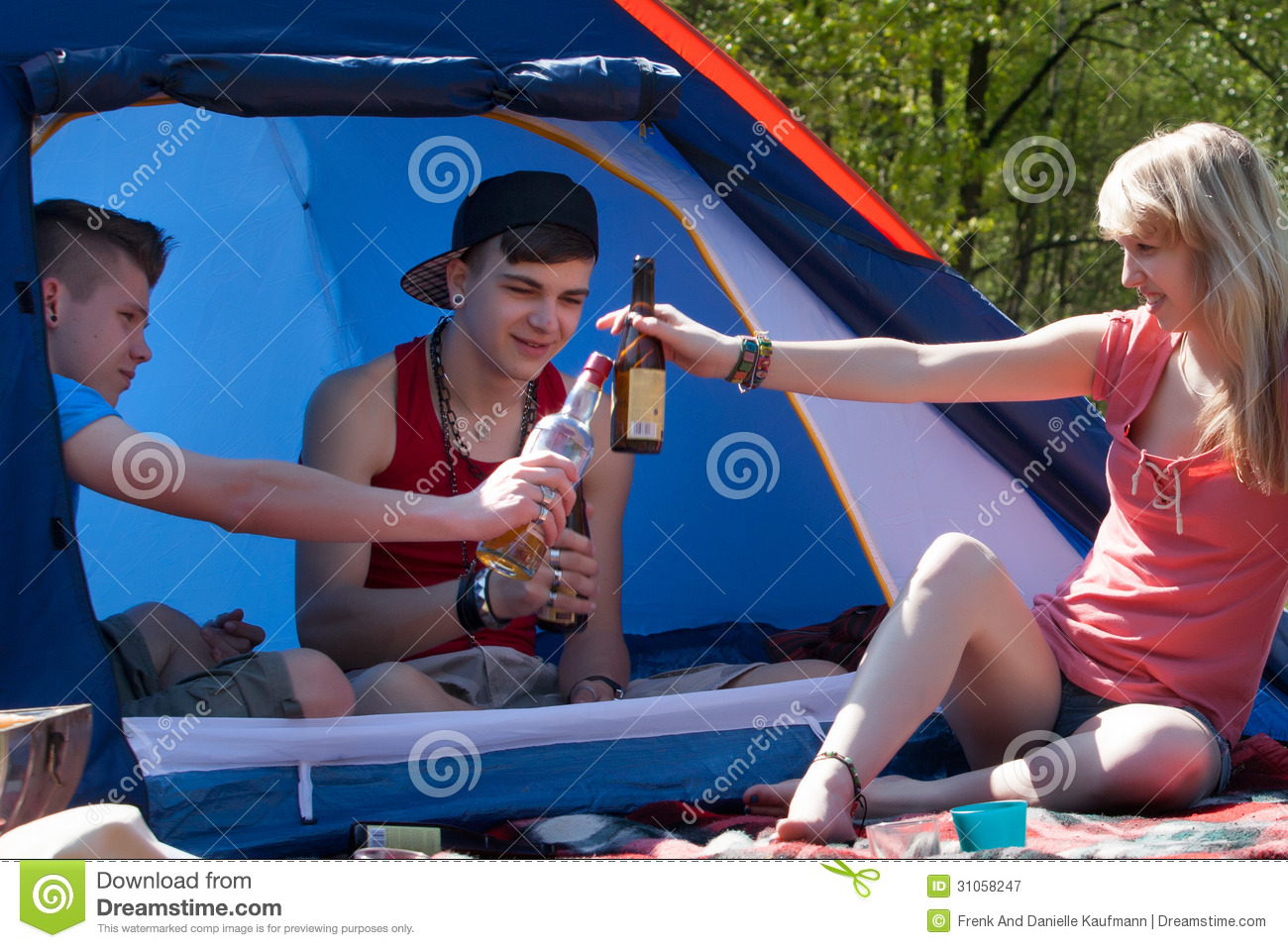 Young Teenagers Drinking Some Alcohol Royalty Free Stock Photography ...
