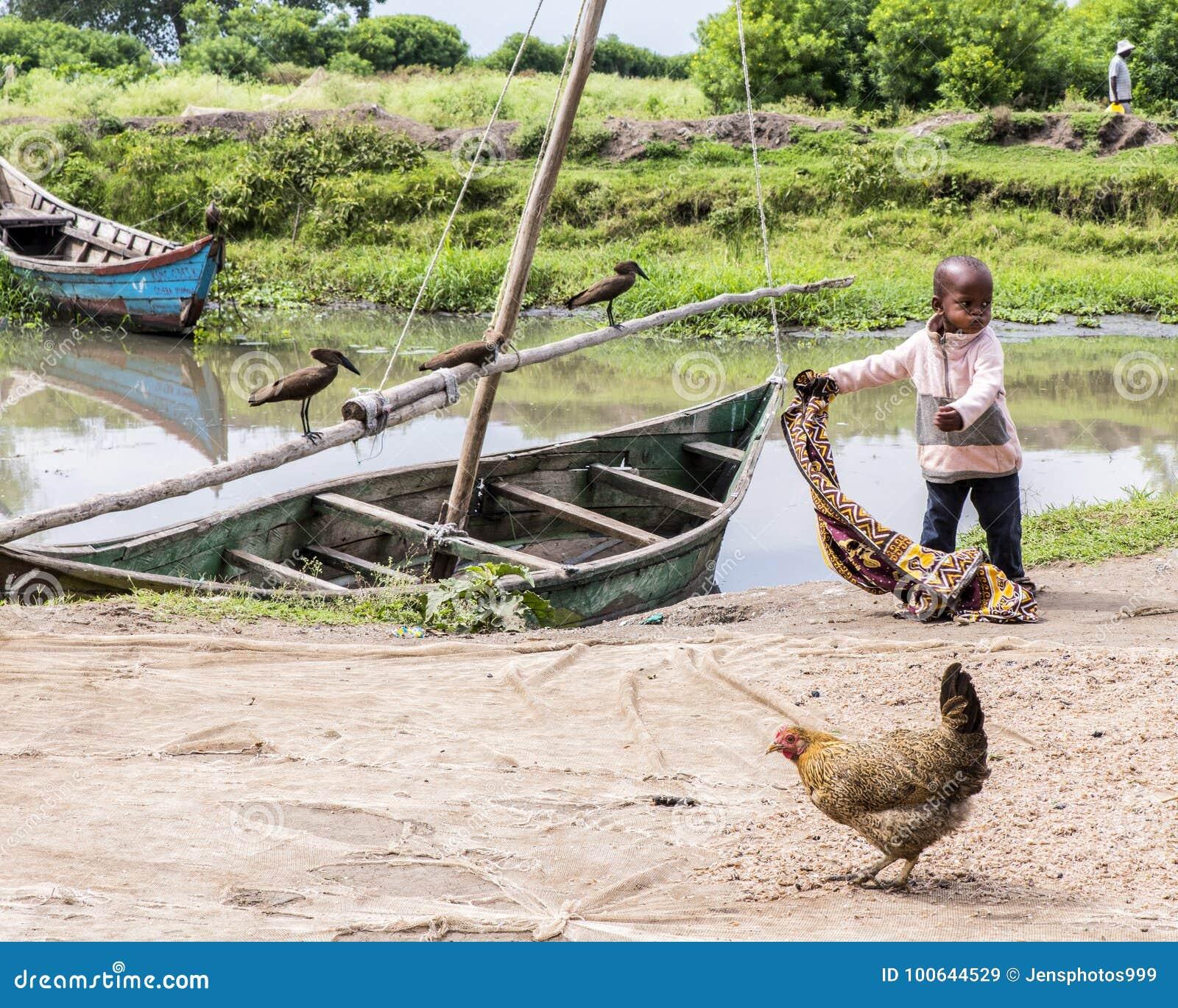 Scene, Water's Edge, Fishing Village, Lake Victoria, Kenya