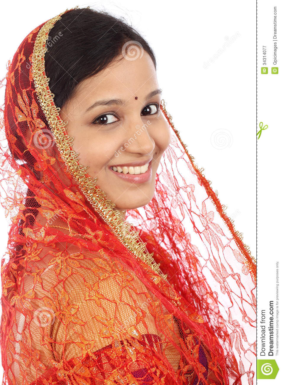 indian traditional woman young sari hindu against culture preview