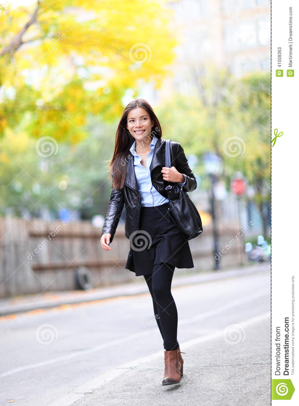 Young Urban Professional Woman In Walking In City Stock Photo Image 41008363