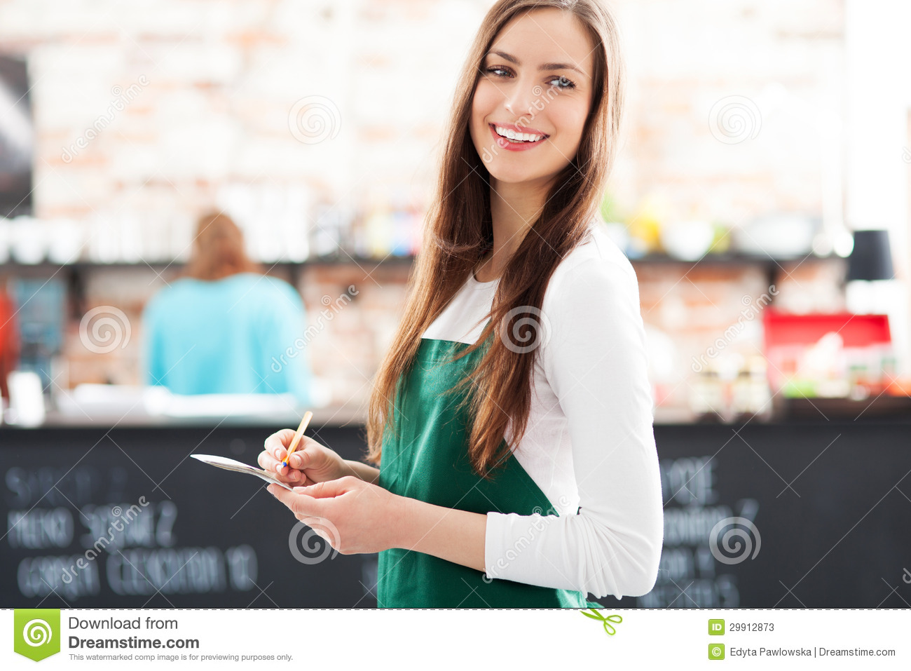 Portrait Of Waitress In Cafe Stock Photos Image 29912873