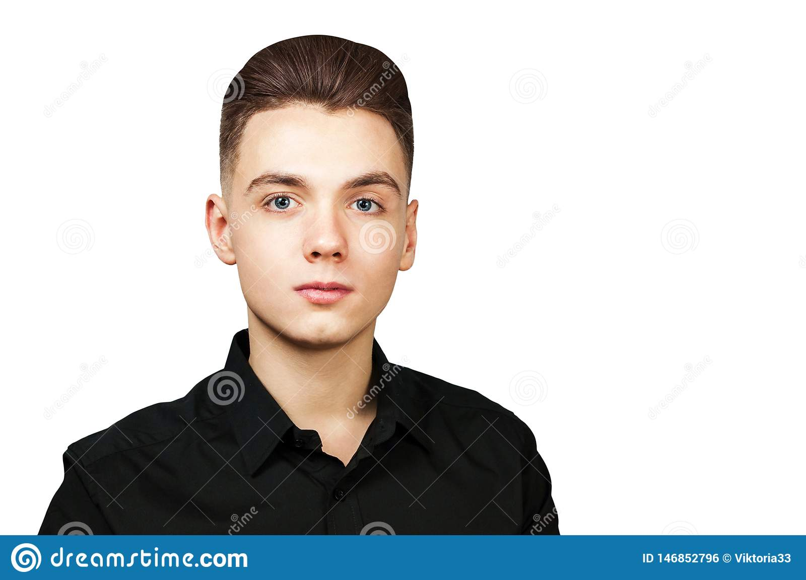 Excellent Young White Guy With A Pompadour Hairstyle Dressed In Black Shirt Schematic Wiring Diagrams Phreekkolirunnerswayorg