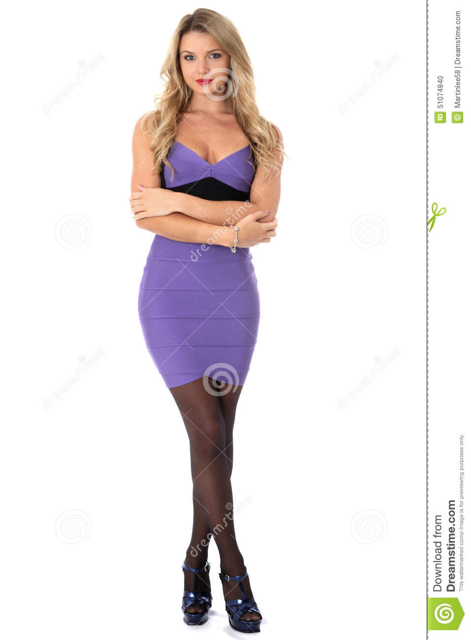 With Arms Wearing Tight Purple Short
