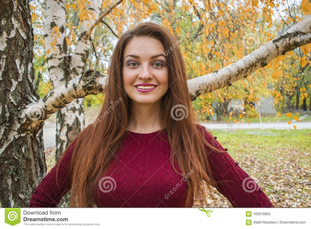 Young woman in autumn.