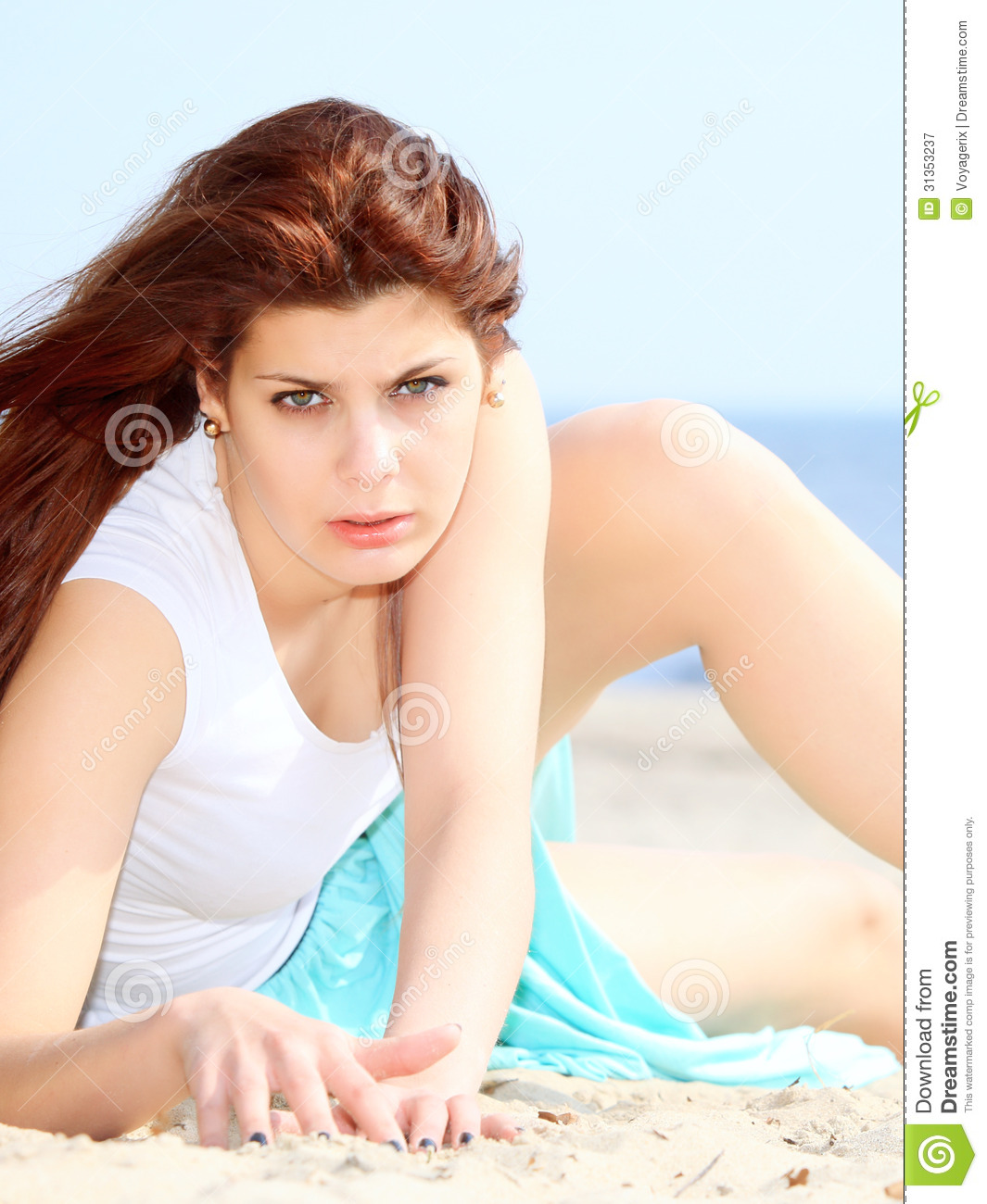 Woman Enjoying At Beach Stock Image Image Of Pleasure: Young Woman On Beach Summer Holiday Stock Image