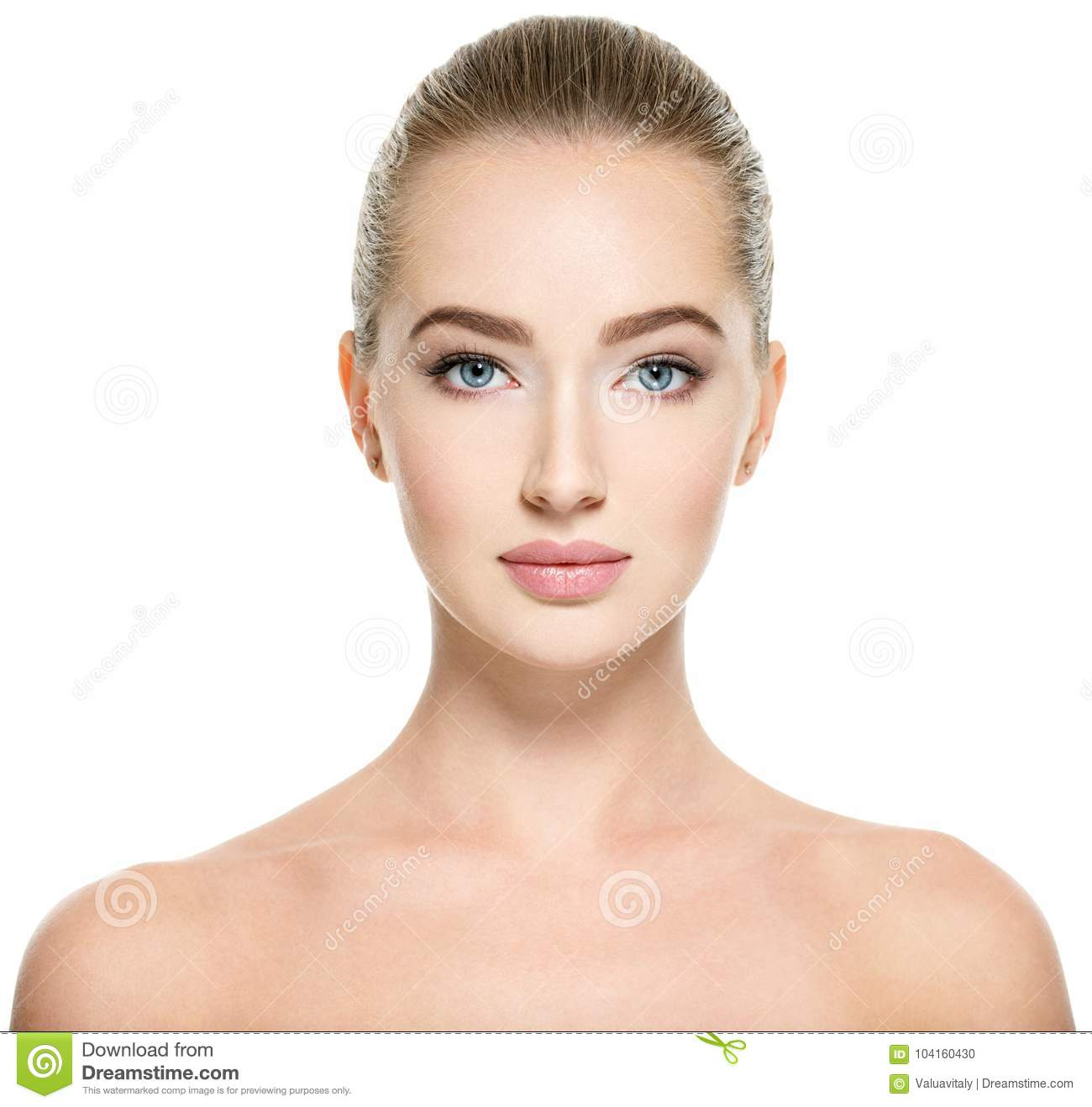 Young woman with beautiful face