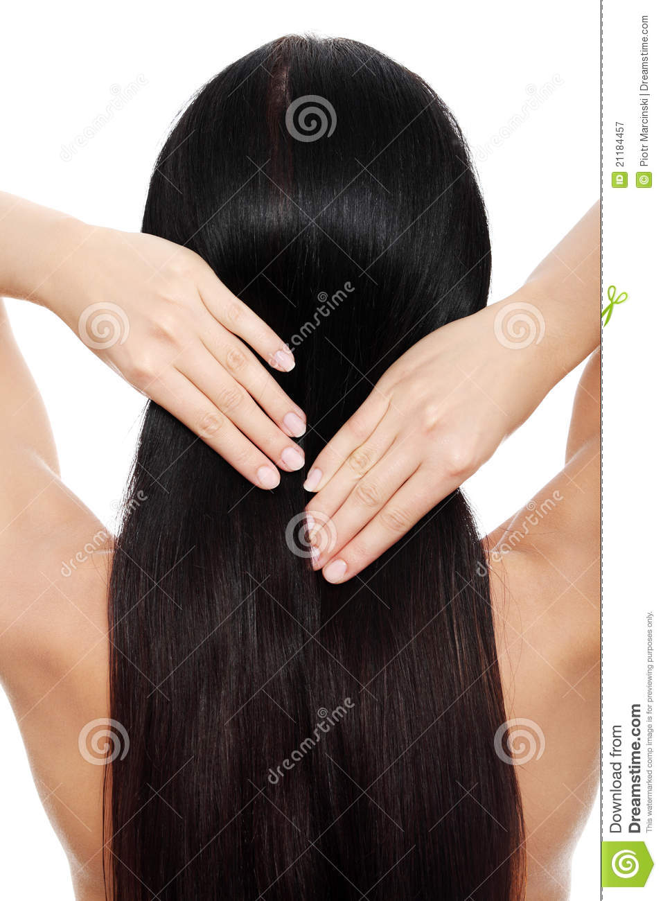 Young woman with beautiful long hairs