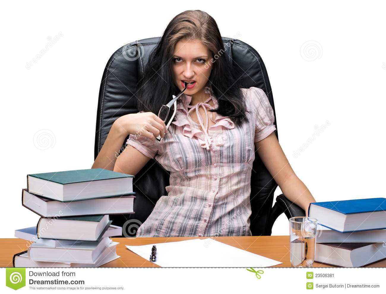 Young Woman Boss Stock Image Image 23506381