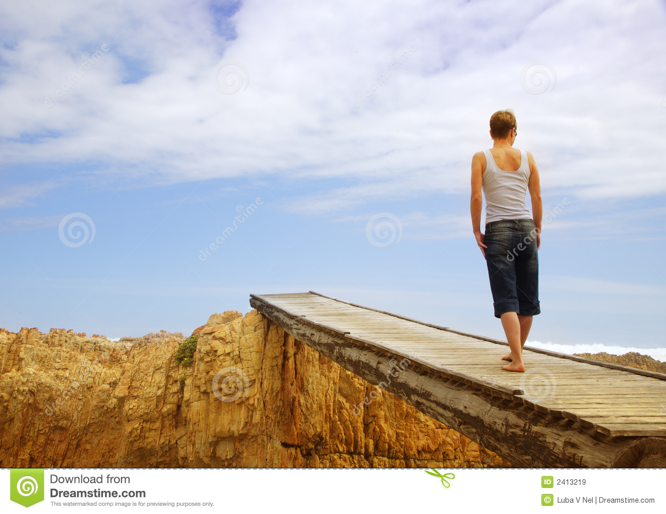 Young Woman On Bridge Royalty Free Stock Images - Image ...