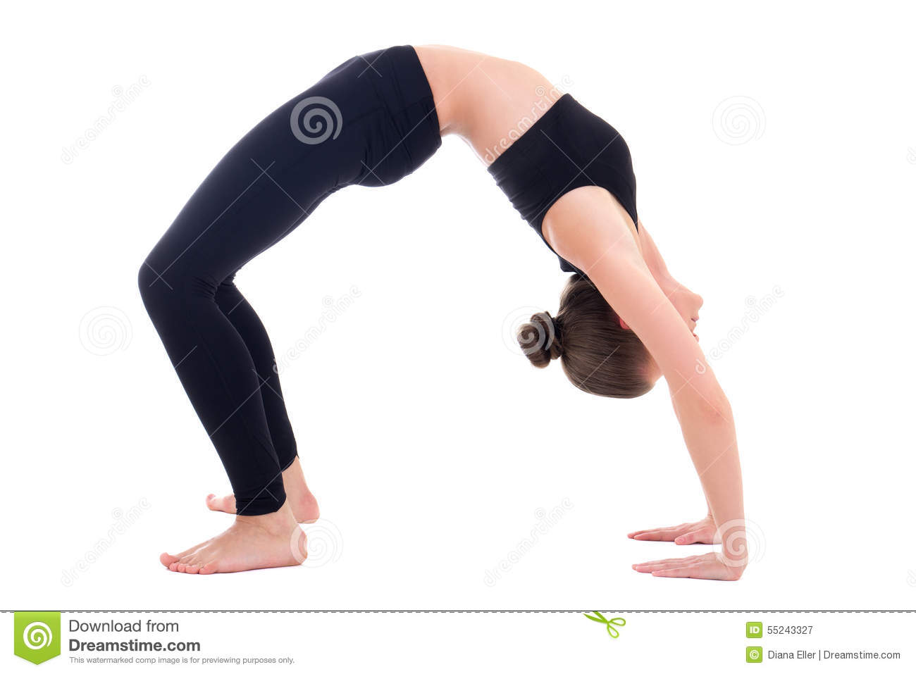 young woman in bridge position of yoga isolated on white clipart exercise ball clip art exercise images
