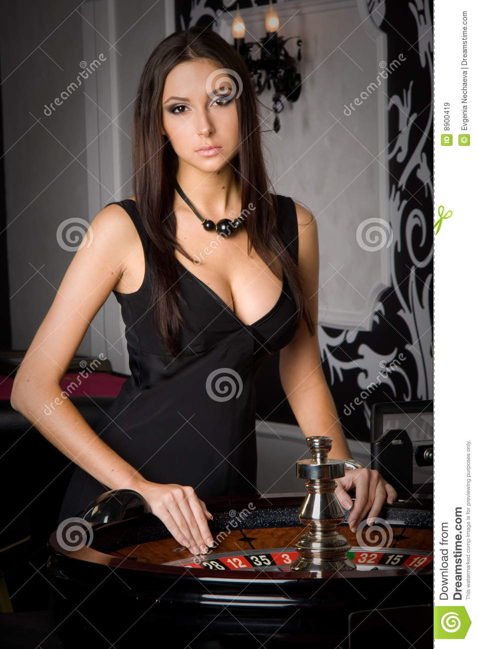 Young woman in casino