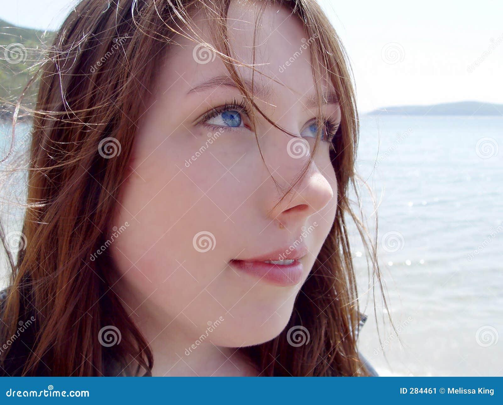 Young Woman Closeup