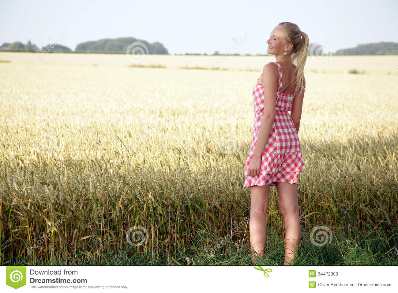 Young Woman In A Corn Field Royalty Free Stock Photos ...