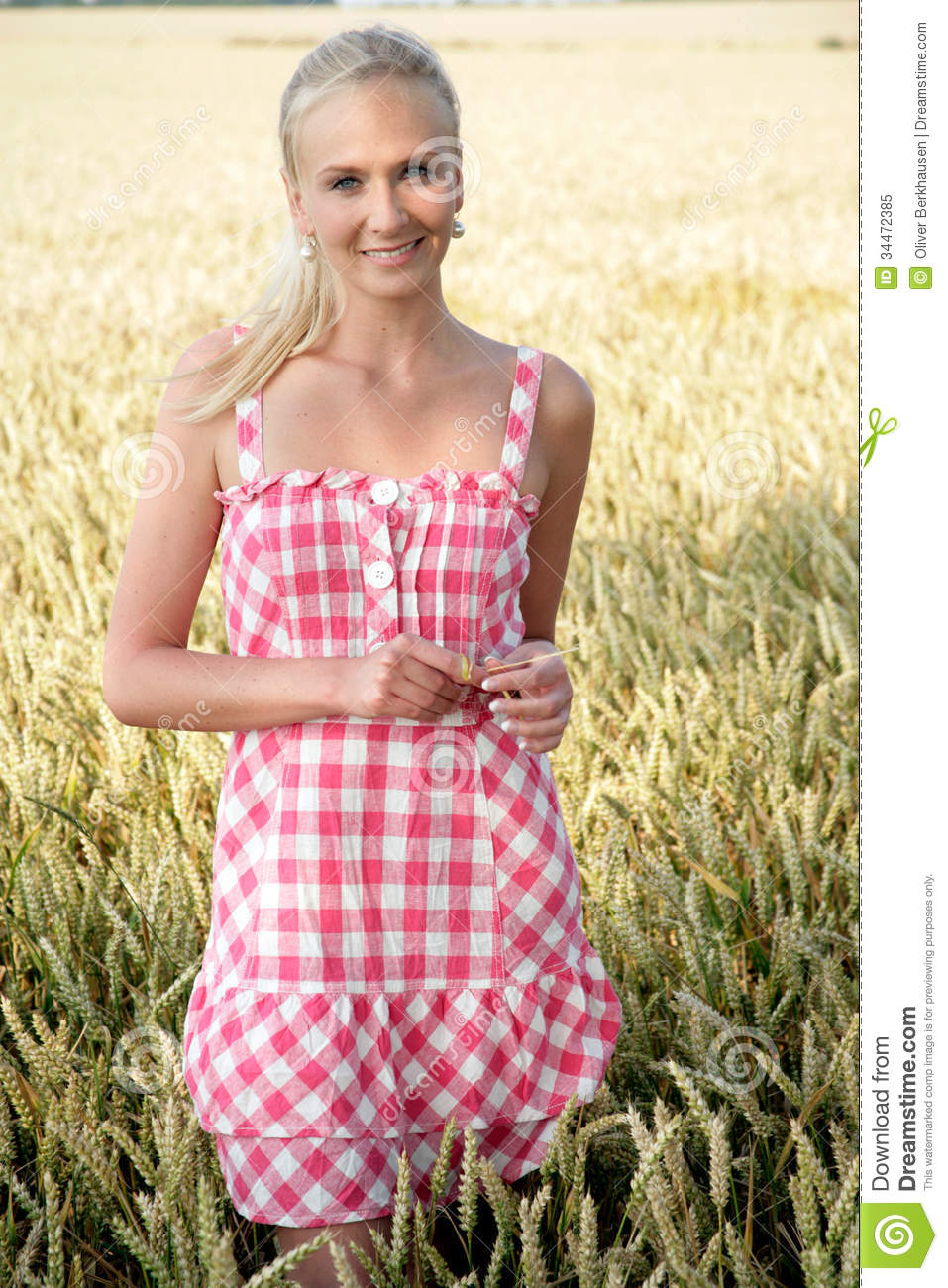 Young Woman In A Corn Field Royalty Free Stock Photo ...